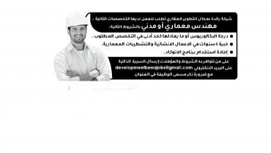 Photo of عروض توظيف من تاريخ 5 ديسمبر 2019 – الموافق 8 ربيع الاخر 1441