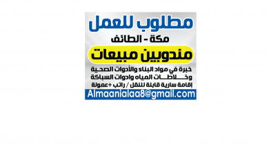 Photo of عروض توظيف من تاريخ 9 ديسمبر 2019 – الموافق 12 ربيع الاخر 1441