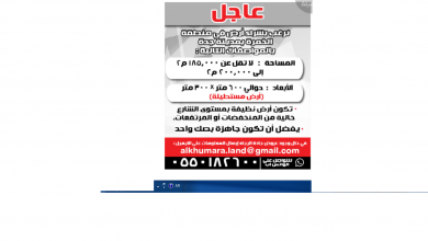 Photo of عروضعقارات من تاريخ 27 يناير 2020 – الموافق 2 جمادى الاخر1441