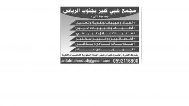 Photo of عروض توظيف من تاريخ 7 ابريل 2020 – الموافق 14 شعبان 1441